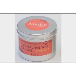 NATURAL BEE WAX CANDLE MANGO