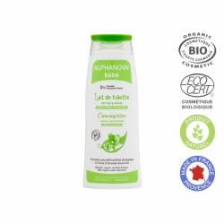 ALPHANOVA Lait de toilette naturel bébé Bio - 200 ml