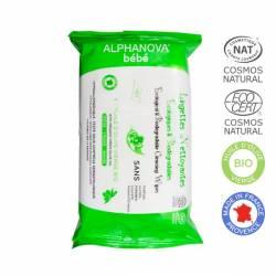 ALPHANOVA Lingettes Biodégradables - 72 lingettes