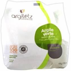 ARGILETZ Argile verte moulue fine - 1 kg