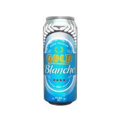 6 LOT DE GOLD BLANCHE CANETTE 50CL
