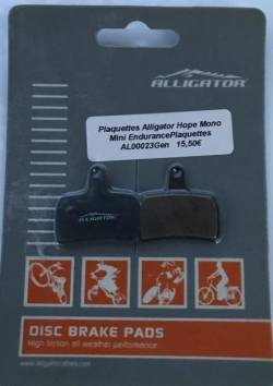 PLAQUETTE DE FREIN ALLIGATOR MOD PERFORMANCE DISC 25 ORGANIQUE HOPE MONO MINI