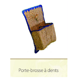 Porte brosse à dents en racine