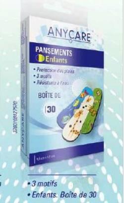 ANYCARE PANSEMENTS ENFANTS BTE DE 30