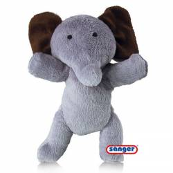 SANGER COUSSIN CHAUFFANT ZOO-JUMBO ELEPHANT NOYAUX DE CERISE